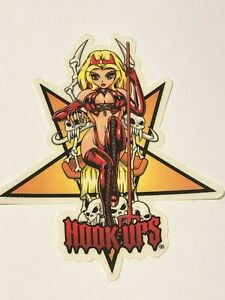 Hook-Ups-HOOK-UPS-Vintage-Skateboard-Sticker-Original-Genuine-Series-121781319