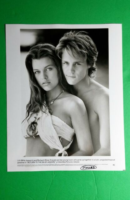 Return To The Blue Lagoon Milla Jovovic Krause B W 8x10 Movie Photo Still Poster