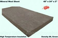 Mineral Wool Sheet 48 X 24 X 2 High Temperature Insulation Density 8 Green