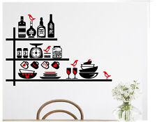 Wandtattoo wandaufkleber wandsticker Küche Geschirr  kaffee herz h002