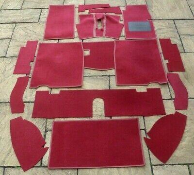 BOOT CARPET SET MG MIDGET /& AUSTIN HEALEY SPRITE NEW RED CARPET SET
