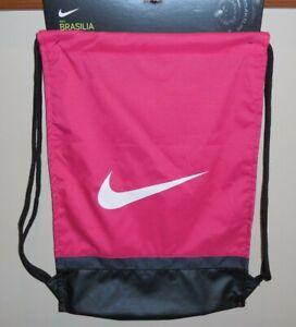 Precursor Hacer las tareas domésticas Instalaciones  Nike Brasilia Gymsack Girls Drawstring Bag Pink Black New Gym BA5338-666  887229311922 | eBay