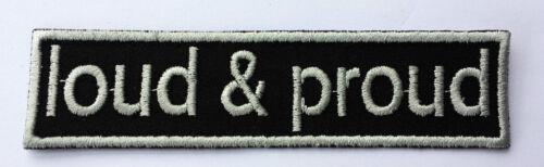 Patch ricamate n Biker 79 Loud /& Proud Colour ricamate patch