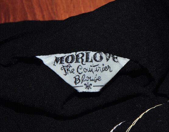 Vintage MorLove The Couturier Blouse Black Sleeve… - image 6