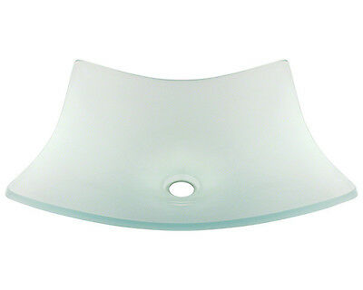MR Direct 622 Frosted Glass Vessel Bathroom Sink