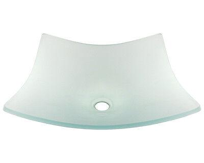 MR Direct 622 Frosted Glass Vessel Bathroom Sink