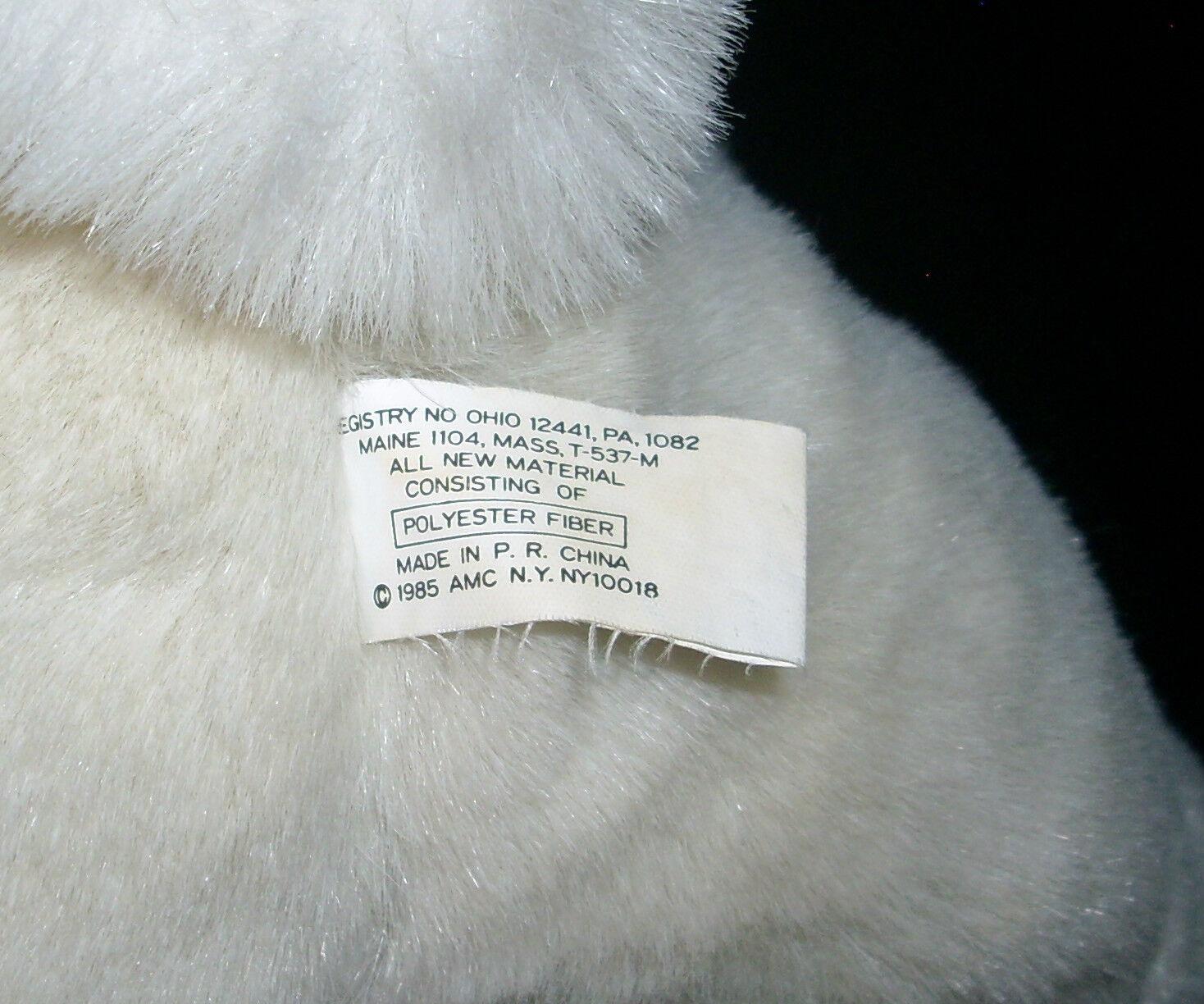 18 VINTAGE 1985 AMC Weiß EASTER BUNNY RABBIT STUFFED ANIMAL