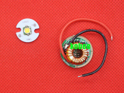 CREE XML2 LED T6 U2 10W LED Emitter 16MM/20MM Aluminum PCB+Input 12V LED driver