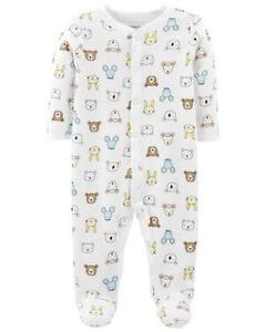 New-Carter-039-s-Sleep-N-Play-Teddy-Bear-Footed-PJs-NWT-NB-3m-6m-9m-Boys-Pajamas