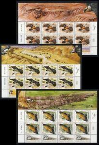 ISRAEL 2013 EAGLES CONSERVATION 3 SHEETS STAMPS BIRDS FAUNA VULTURE GRIFFON MNH