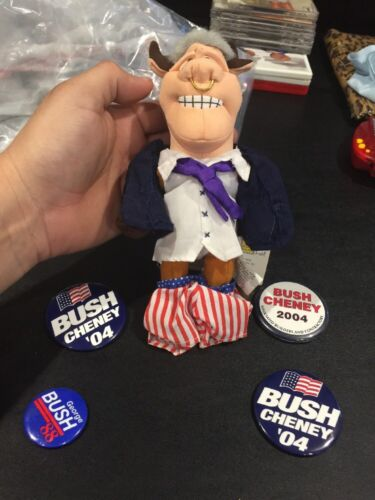 Political Pins Infamous Meanies Clinton Doll Presidential Election Bush Cheney