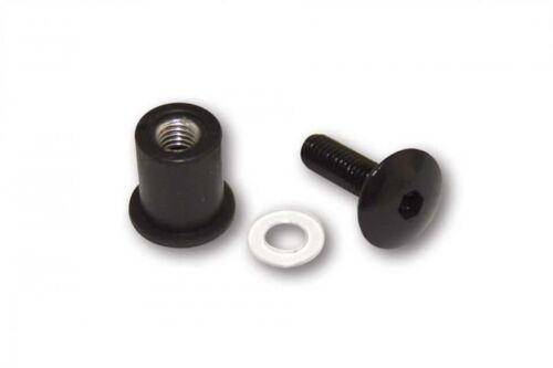 230041 Alu-Verkleidungsschrauben M6 mit Gummimutter für Verkleidungsscheiben 8 S