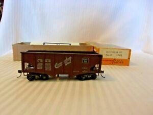 HO-Scale-Ulrich-Metal-CB-amp-Q-Burlington-Route-Hopper-Car-Brown