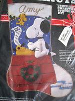 Malina Peanuts Felt Christmas Stocking Kit,my List,snoopy,woodstock,8450-001,18
