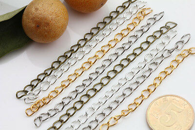 25/100PCS Metal 5x3mm Rings Link Twisted Chain Necklace Jewelry Finding 7cm DIY