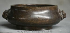 Ancien-palais-chinois-en-bronze-grave-encensoir-encensoir