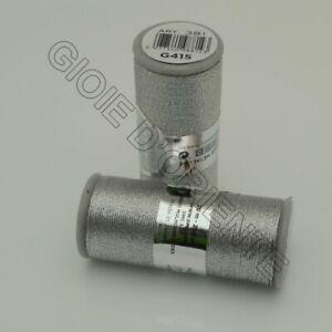 Filato-Diamant-DMC-GROSSO-20-MT-G415-Argento-rodio-ottimo-per-catenella-all-039-unci