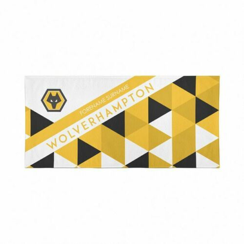 Personalise with Any Name Beach Towel Wolverhampton Wanderers F.C