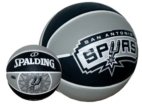 Spalding Basketball San Antonio Spurs Gr.7 NBA Fan-Ball schwarz-grau Korbball