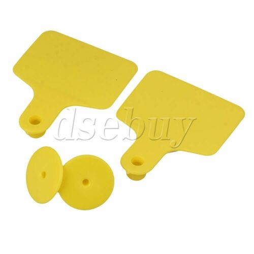 100 Sets Cow Cattle Blank Large Livestock Ear Tag With Yellow Color