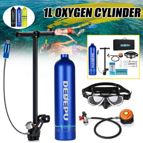 1L Portable Oxygen Cylinder Air Oxygen Tank Breath Diving Air Pump