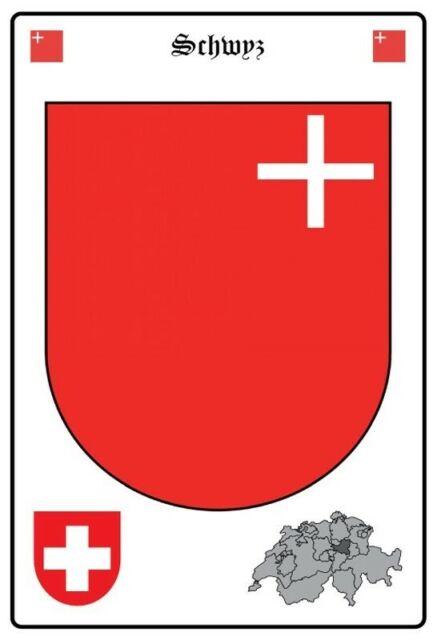 Obwalden Schweiz Wappen Blechschild Schild gewölbt Metal Tin Sign 20 x 30 cm
