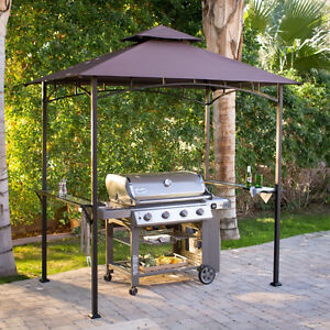 Image is loading 8-039-x-5-039-Brown-Canopy-Patio- & 8u0027 x 5u0027 Brown Canopy Patio Grill Gazebo Home Outdoor Furniture ...