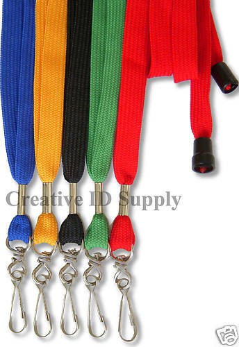 STRAP For ID Badges LOT 50 Breakaway NECK Lanyards