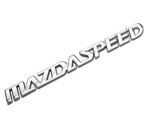 Car Accessories Side Emblem MAZDASPEED Logo Rear Badge Fender Sticker For Mazda