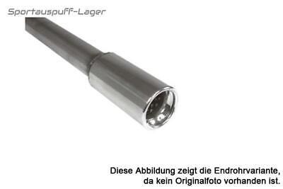 orginal  Edelstahl Anschweißendrohr Ø 76mm rund L 480mm Anschluss 55mm Typ80