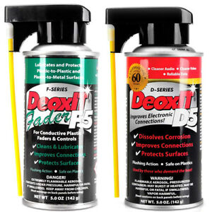Details about DeoxIT CAIG D5 Contact Cleaner + DeoxIT CAIG F5 Kontaktspray  Fader Lube