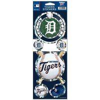 Detroit Tigers Prismatic Holograph Sticker Decal Label Sheet Of 5 Mlb Baseball