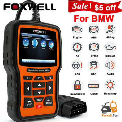 Foxwell NT510 For BMW Full Systems Engine ABS Airbag Scanner DPF TPMS EPB Reset