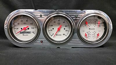 1963 1964 1965 CHEVY NOVA 3 GAUGE CLUSTER SHARK