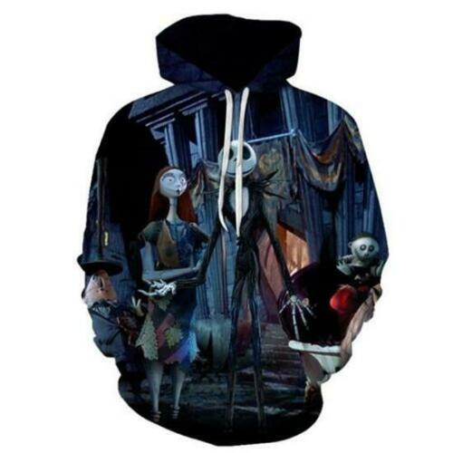 Hoodies Jack Skellington Nightmare Before Christmas 3D Pullover Sweatshirts Tops