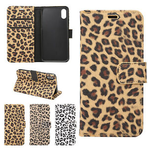 official photos d78db 3d1a3 Details about Leopard Print Case Flip PU Leather Wallet Cover For iPhone  7/8 Plus X XS Max XR