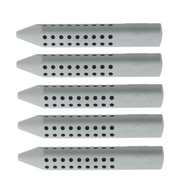 grau FABER-CASTELL Kunststoff-Radierer GRIP 2001