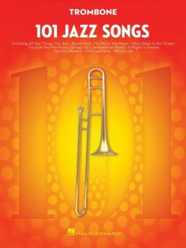 101 Jazz Songs for Trombone Instrumental Solo Book NEW 000146370