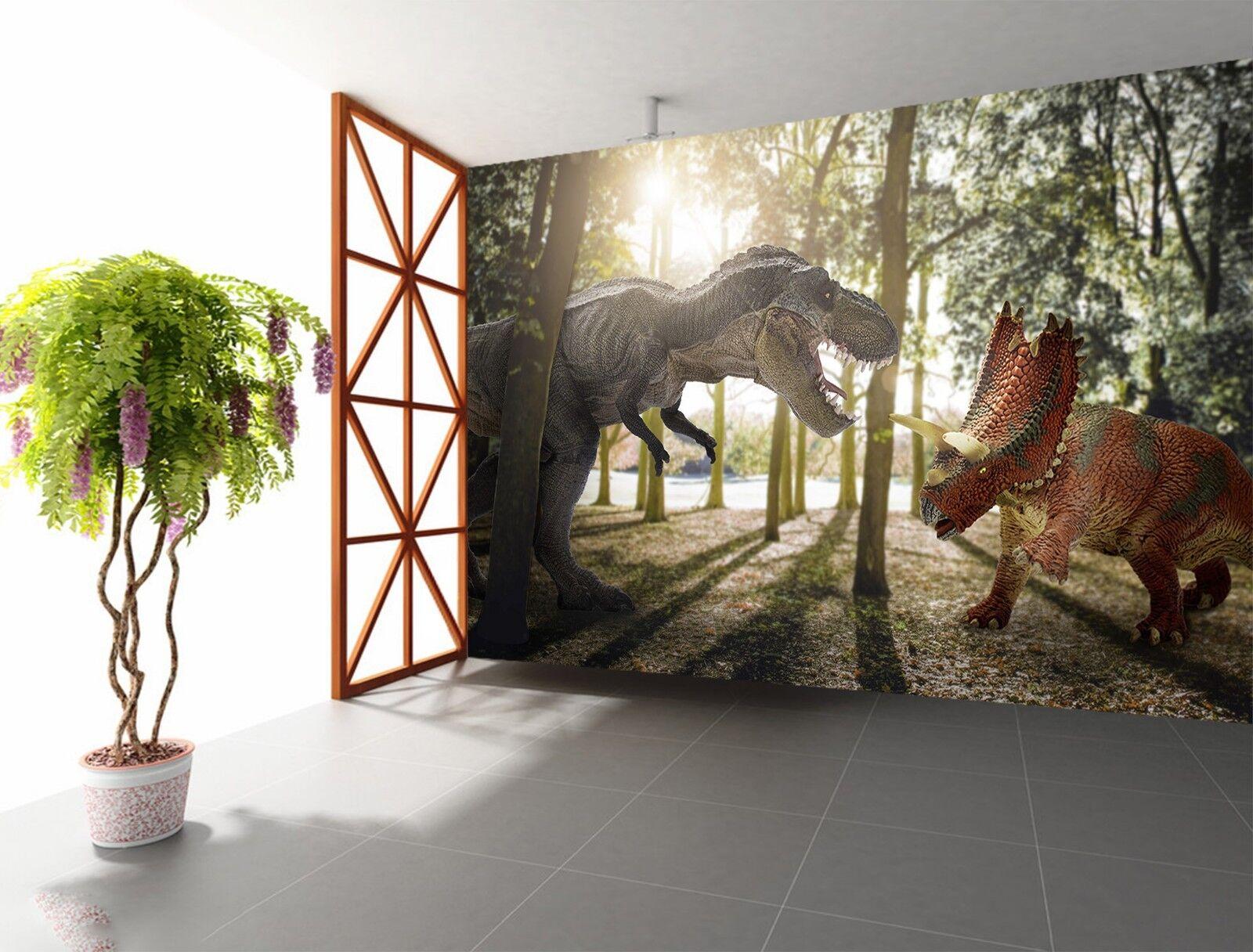 3D Waldland Dinosaurier Krieg 1 Tapete Wandgemälde Tapete Tapeten Familie Kinde