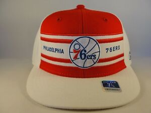 sale retailer 951d8 73a8b Image is loading Philadelphia-76ers-NBA-Reebok-Fitted-Hat-Cap-Red-