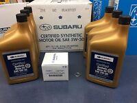 Genuine Subaru Oil Change Kit Filter Gasket 6 Qts Synthetic 5w30 Turbo Wrx 15-17