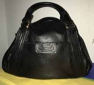 Image Is Loading Tahari Black Leather Purse