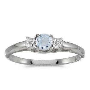 14k-White-Gold-Round-Aquamarine-And-Diamond-Ring