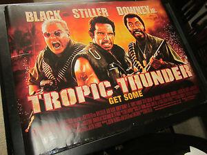 Tropic Thunder 2008 Original Double Sided Uk Quad Poster Ebay