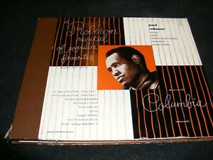 Scarce-Columbia-1948-PAUL-ROBESON-Recital-78-Set-4-10-inch-Records-in-Album-Jckt