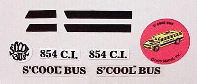 """HOTWHEELS REDLINE /""""S COOL BUS STICKER SET COMPLETE"""