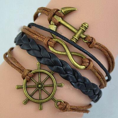 Bracciale Braccialetto Bracelet Accessori Uomo Donna Metallo Pelle TIMONIERE