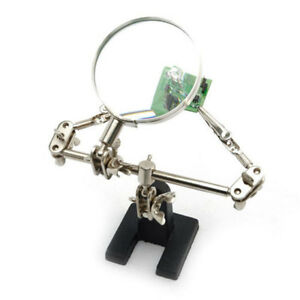 SK-Third-Hand-Soldering-Solder-Iron-Stand-Helping-Magnifying-Tool-MagnifierDSU