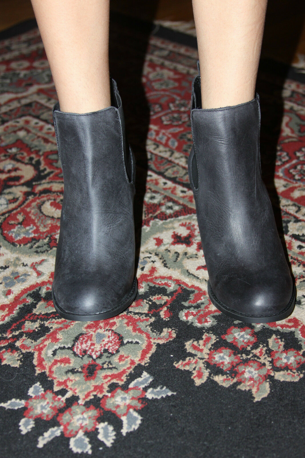 STEVE MADDEN LAMBII BLK NUBUCK ANKLE BOOT SIZE 8.5