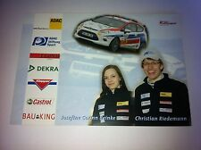 CP POSTCARD CARTOLINA FORD FIESTA RIEDEMANN RALLY RALLYE WRC 2010
